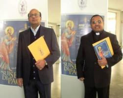 Prof. Jesu Pudumai Doss of Canon Law Faculty (23 April) and Prof. Jerome Vallabaraj of the Educational Sciences Faculty (April 24)